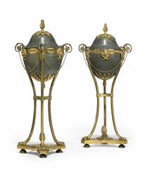 A PAIR OF FRENCH ORMOLU AND BA