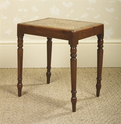 A REGENCY SOLID YEW WOOD CANED