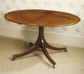 A GEORGE III MAHOGANY BREAKFAS