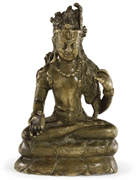 A bronze figure of Avalokitesh