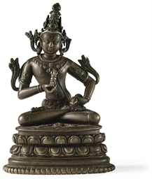 A small bronze figure of Vajra