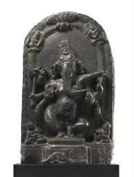 A blackstone stele of Ganesha