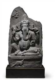 A blackstone stele of Ganesha