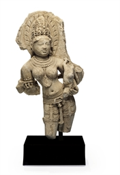 A marble figure of Ambika