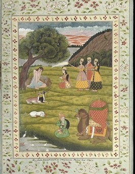 A folio from the Polier Album: Layla and Majnun
