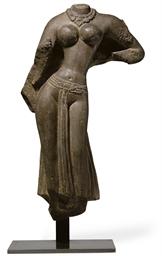 A sandstone female torso