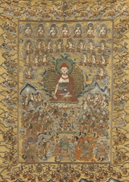 A thangka of the Medicine Budd