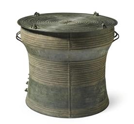 A bronze rain drum