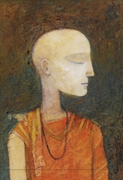 Untitled (Head of a Young Monk