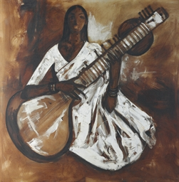 Untitled (Girl Playing a Sitar