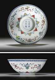A FINE DOUCAI-ENAMELED BOWL
