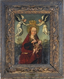 The Virgin and Child with ange
