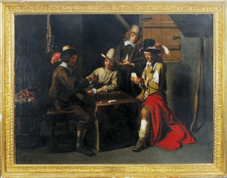 Cardplayers in an interior