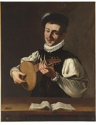 A lute player (The Sense of He