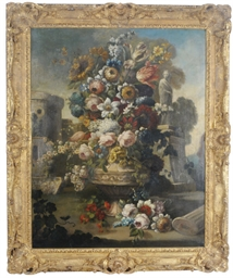 Still life of flowers in a lar
