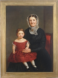 Portrait of a grandmother with