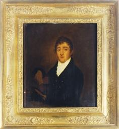 Portrait of a gentleman holdin