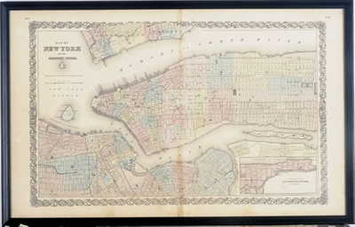 Map of New York and the Adjace