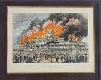 Burning of the New York Crysta