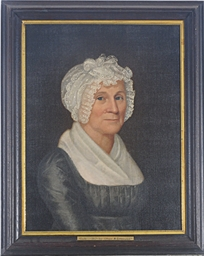 Portrait of an elderly lady; a