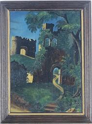 Castle ruins under the moonlig