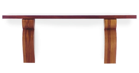 A MAHOGANY CONSOLE TABLE,