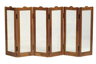 A FRENCH MAHOGANY SIX-PANEL DR