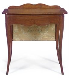 A FRENCH PROVINCIAL OAK WRITIN