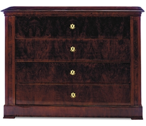 A GERMAN MAHOGANY SECRETAIRE,