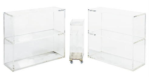 A PAIR OF LUCITE SIDE CABINETS
