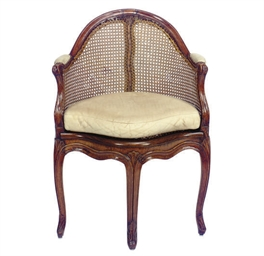 A LOUIS XVI BEECHWOOD AND CANE