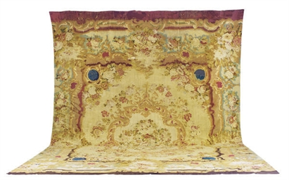 AN AUBUSSON CARPET,