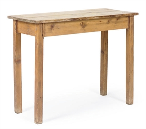 AN ENGLISH PINE SIDE TABLE,