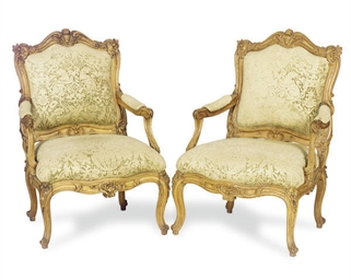 A PAIR OF FRENCH CARVED BEECHW