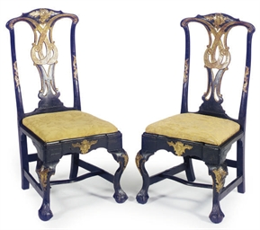 A PAIR OF PORTUGUESE EBONIZED