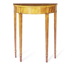 A GEORGE III SATINWOOD AND CRO
