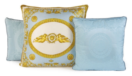THREE SILK PILLOWS,