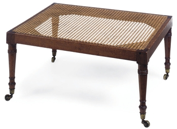A REGENCY MAHOGANY AND CANED S