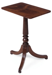 A REGENCY PADOUK TRIPOD TABLE