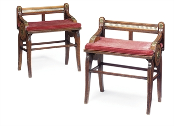 A PAIR OF MID-VICTORIAN OAK AN