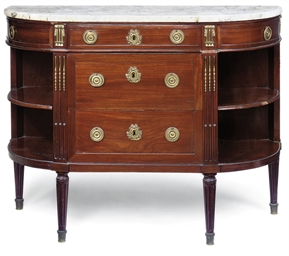 A DIRECTOIRE MAHOGANY D-SHAPED