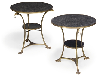 A PAIR OF GILT-METAL AND 'BELG