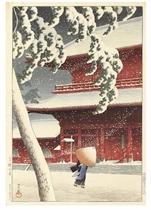 Shiba Zojoji (Zojoji Temple, Shiba), from the series Tokyo nijukkei (Twenty views of Tokyo), [first published 1925]
