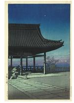 Osaka Kozu (Kozu district, Osaka), from the series Tabimiyage daisanshu (Souvenirs of travel--third series), [first published 1924]  Suruga Kozumachi (Kozu town, Suruga), from the series Tokaido fukei senshu (Selected Tokaido landscapes), 1934.3  Okayama Uchiyamashita (Uchiyamashita, Okayama), from the series Nihon fukei senshu (Selected Japanese landscapes), [first published 1923]  Takamatsu no asa (Morning at Takamatsu), n.d., numbered on verso 169/200