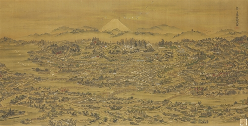 Panoramic view of Edo
