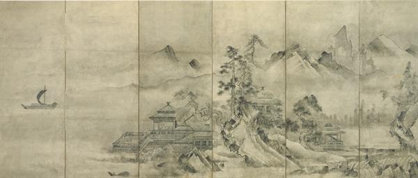 Chinese pavillion by lake