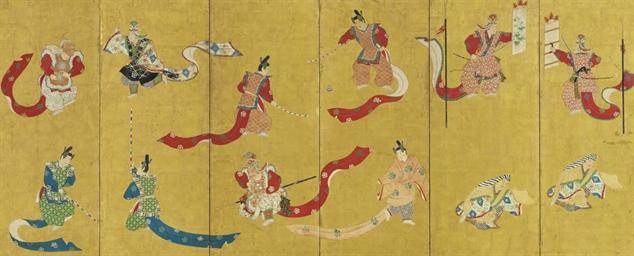 Bugaku dancers