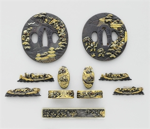 A Set of Sword Fittings