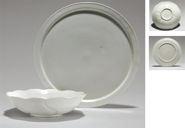 A White Porcelain Foliate Bowl