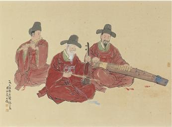 Three musicians, 1962